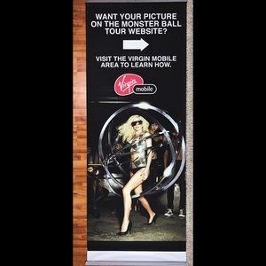 """Lady Gaga """"Monster Ball Tour"""" Vinyl Promo Banner"""